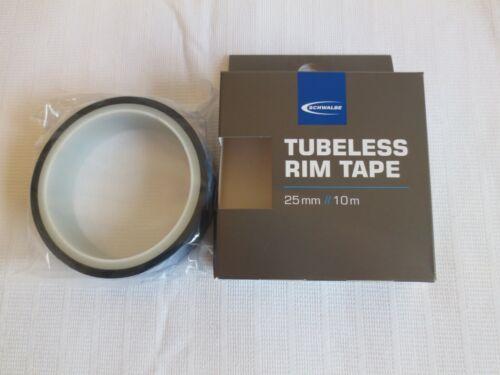 25 mm Largeur x 10 m Roll Entièrement neuf dans sa boîte SCHWALBE Tubeless rim tape
