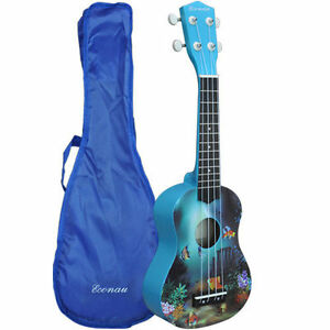 New-Soprano-Ukulele-Basswood-body-Nato-Neck-Timber-With-Carry-Bag