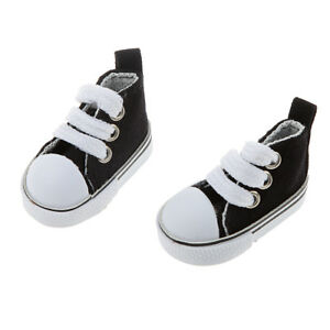 Black-Round-Toe-High-top-Laceup-Canvas-Sports-Shoes-for-1-6-BJD-Doll-Clothes