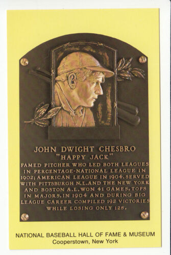 Plaque NEW POSTCARD HOF HAPPY JACK CHESBRO Baseball Hall of Fame