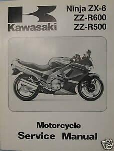 kawasaki zzr500 600 service manual ebay rh ebay co uk Kawasaki Car Kawasaki Engines