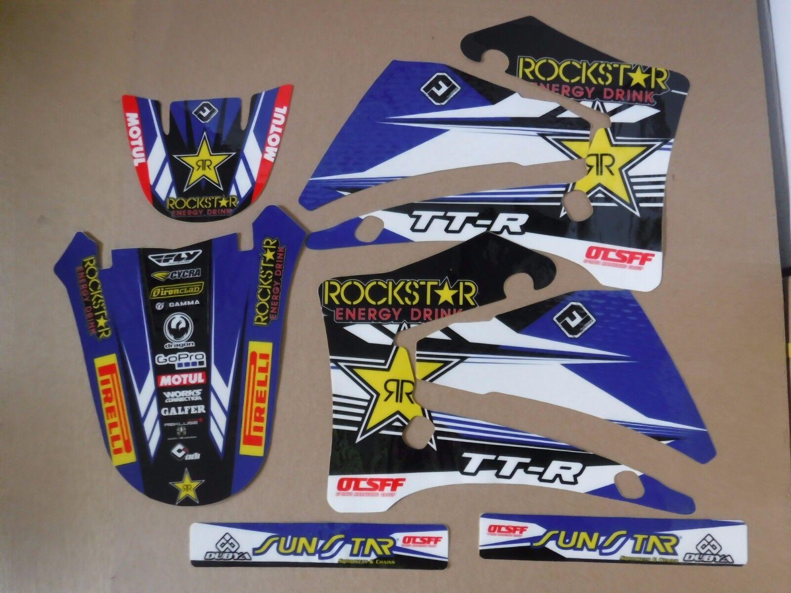 TEAM ROCKSTAR  YAMAHA GRAPHICS TTR125 TTR125L 2000 2001 2002 2003 2004 05 06 07 2