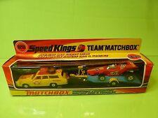 MATCHBOX K-46 K46 MERCURY COMMUTER RACING CAR & TRAILER - NEAR MINT IN BOX