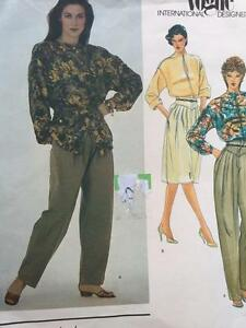 Vogue-Sewing-Pattern-2756-Ladies-Misses-Top-Skirt-Pants-Size-8-UC-Gianni-Versace
