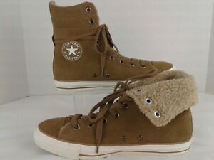 Converse High Top Boot Brown Suede