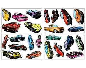 24 sportwagen set wandtattoo auto usa car wandaufkleber - Wandtattoo kinderzimmer auto ...
