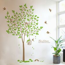 Wallpaper Large Size Tree Birds Beautiful Vinyl Quote Wall Stickers Wall Decals