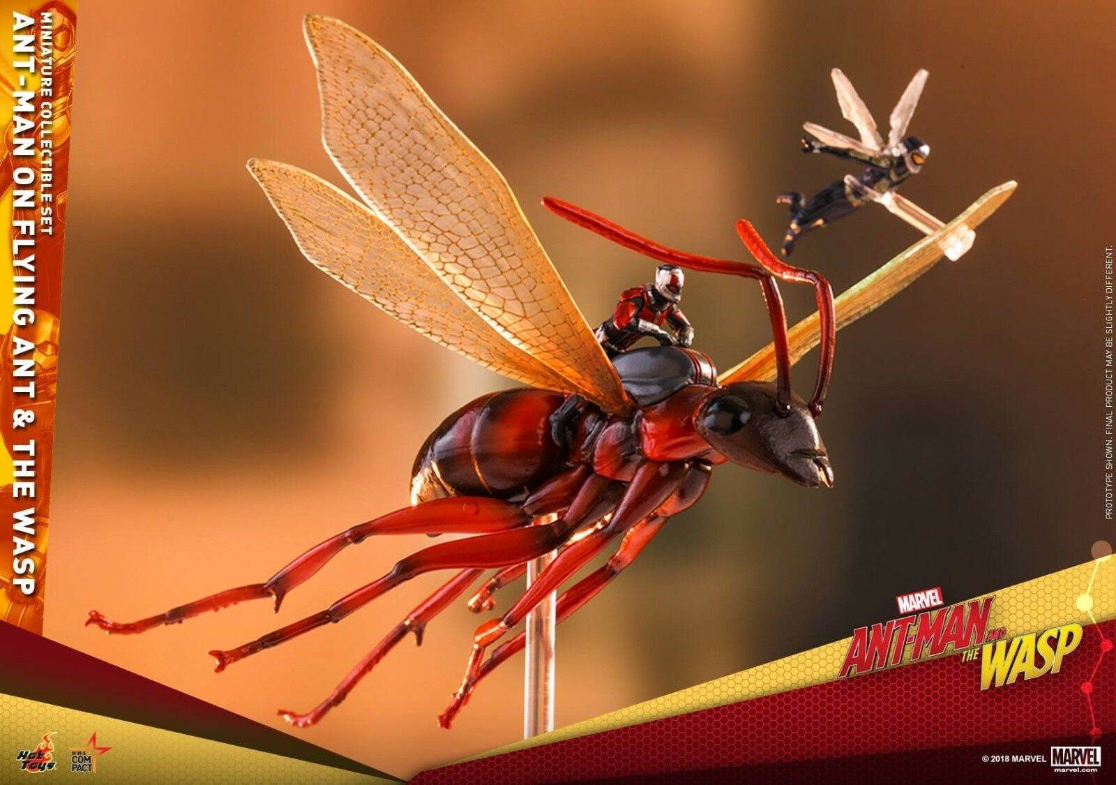 Hot Toys Mmsc004 Ant Man sur Volant Ant et la Guêpe Miniature de Collection Set