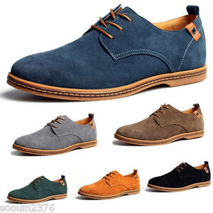 2019 suede european style leather shoes men's oxfords
