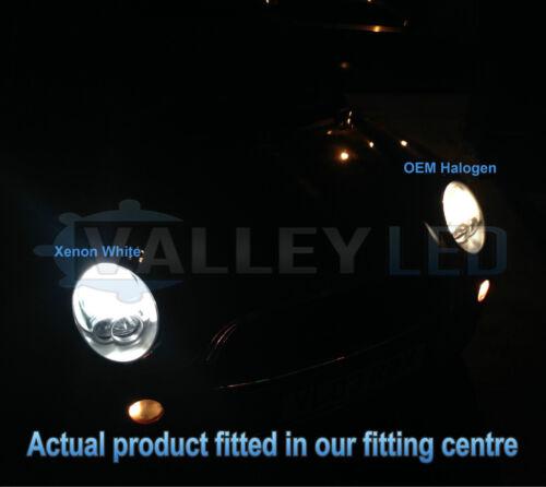 Audi A1 10-14 Xenon White Upgrade Kit Headlight Dipped High Side DRL Bulbs 6000k