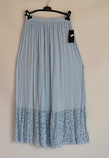 GORGEOUS COTTON  SARAH SANTOS  blue LACE TRIM  PETTICOAT/ SKIRT SZ XL/XXL