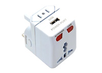 Universal International Travel Adapter Usb Charger Port Ac Power 150 Countries