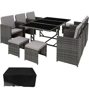 Details Zu Poly Rattan Sitzgruppe Gartenmobel Garten Lounge 6x Stuhl Tisch 4x Hocker B Ware