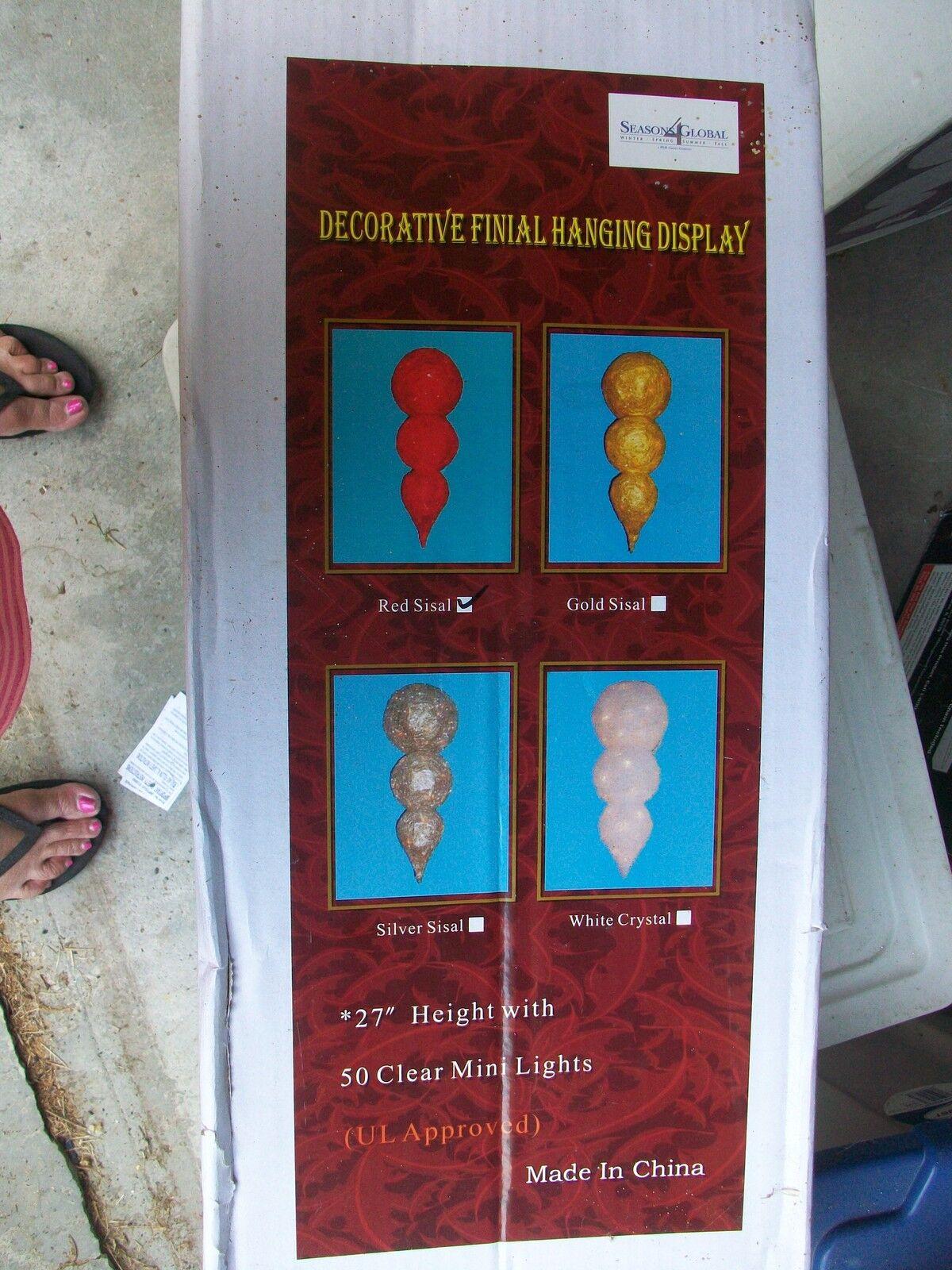 Shimmering Finial Hangng rot Sisal  Christmas Decoration Decoration Decoration Fortunoff Rare HTF 1ac3b6