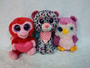 "Ty Beanie Boos Charming Tasha Wild Republic Owl 6"" Plush Soft Toy Stuffed Animal"