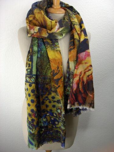 Schall*Tuch*Stola* Damenschal*multicolor*Wolltuch bedruckt *Mel /& Davis N.Y.St03