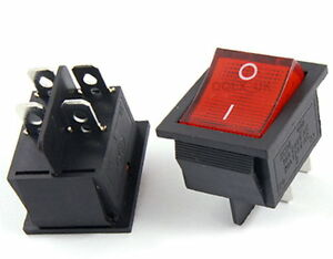Red-Button-4-Pin-DPST-ON-OFF-Illuminated-Car-Rocker-Switch-AC-250V-15-30A