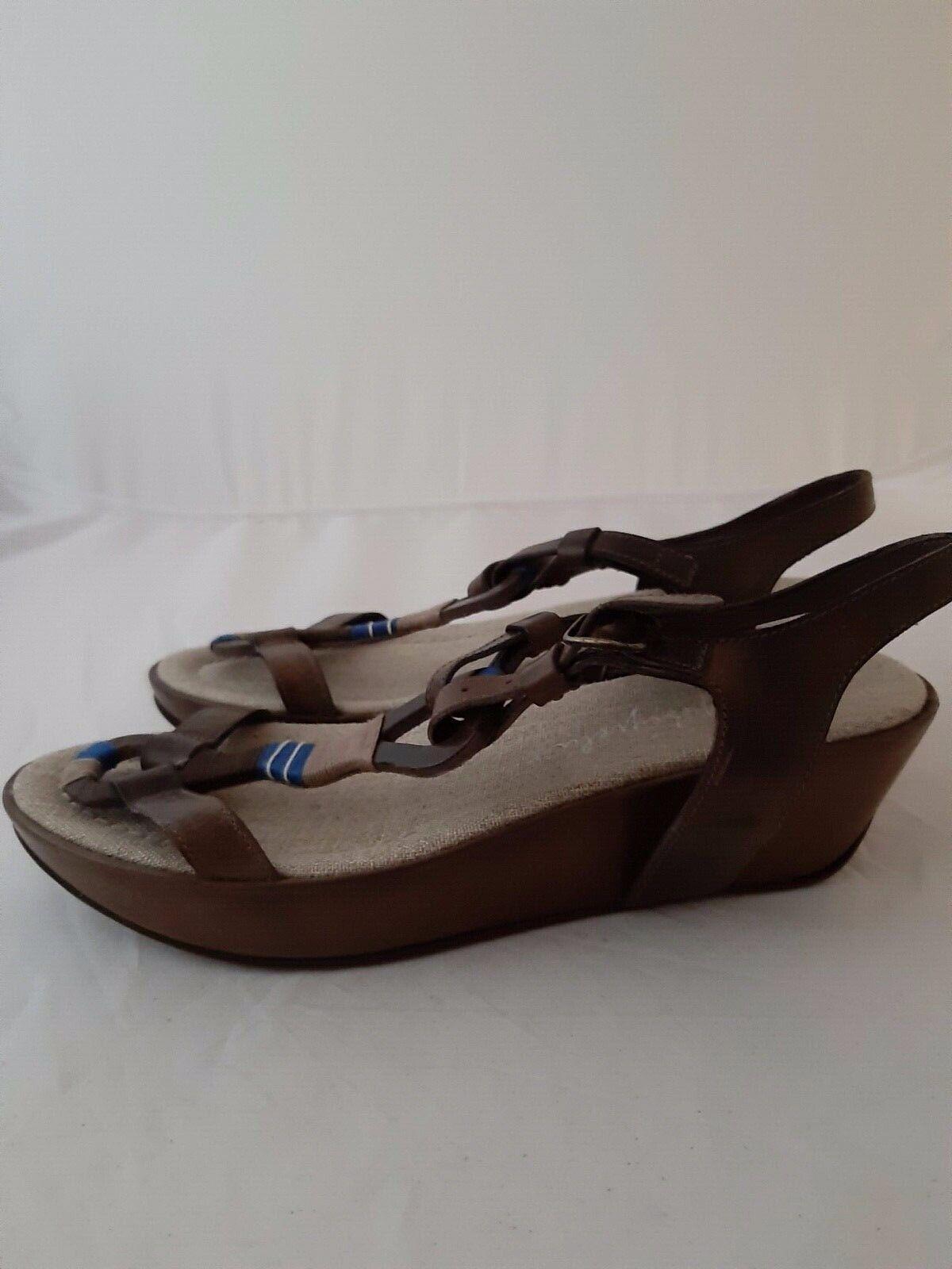 Henry Beguelin Toupe Leather platform sandals size 37
