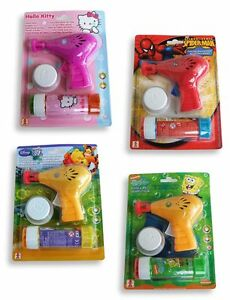 Seifenblasenpi<wbr/>stole Hello Kitty - Spiderman - Winnie Puuh - Spongebob [NEU]