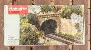 Auhagen 30277 2 Stück Tunnelportale zweigleisig sehr gut für TT 1:120 in OVP