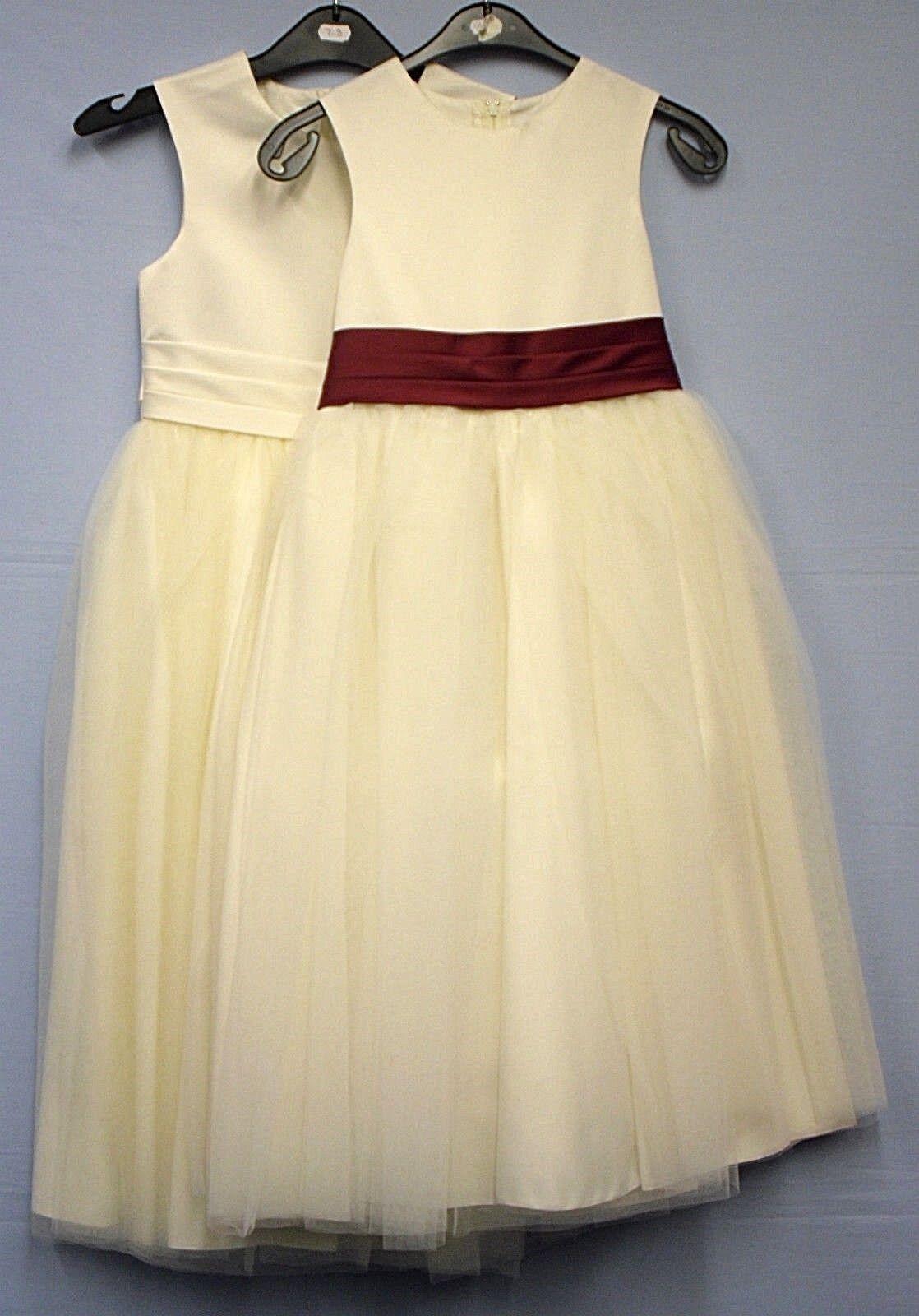 Childrens Girls Occasion Dress Cream Bridesmaid Wedding Formal Party 7-8 years