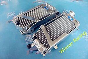 Fit KTM 125//200//300 XC//XC-W 125//150//250 SX 2008-2015 aluminum radiator Braced