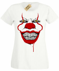 Sourire-Clown-T-shirt-femme-top-IT-HALLOWEEN