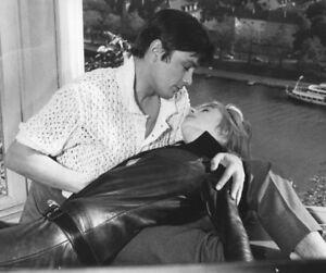 Marianne Faithfull and Alain Delon photograph - L2984 - The Girl on a Motorcycle
