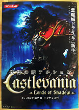 Castlevania Lords of Shadow RARE XBOX 360 PS3 51.5 cm x 73 Jap Promo Poster #1