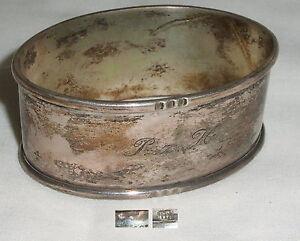 Serviettenring Aus Silber Mit Monogramm P H. Fest In Der Struktur da4175 Z