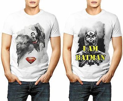 I am Batman Superman DC Comics Combo Designer Printed T Shirts