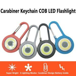 COB-LED-Keychain-flashlight-with-Carabiner-Portable-Handheld-Pocket-Lamp-Outdoor