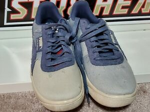Details about Puma California Mens Shoes Denim Dark Vintage Distressed Blue  size 9.5 369933-01