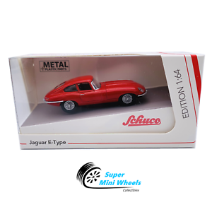 Schuco-1-64-Jaguar-E-Type-Coupe-Red-Diecast-Model-Car