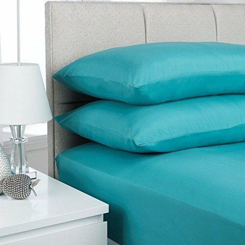 """EXTRA DEEP FITTED SHEETS BEDDING 16/""""//40CM IN 16 COLOURS 4 SIZES"""