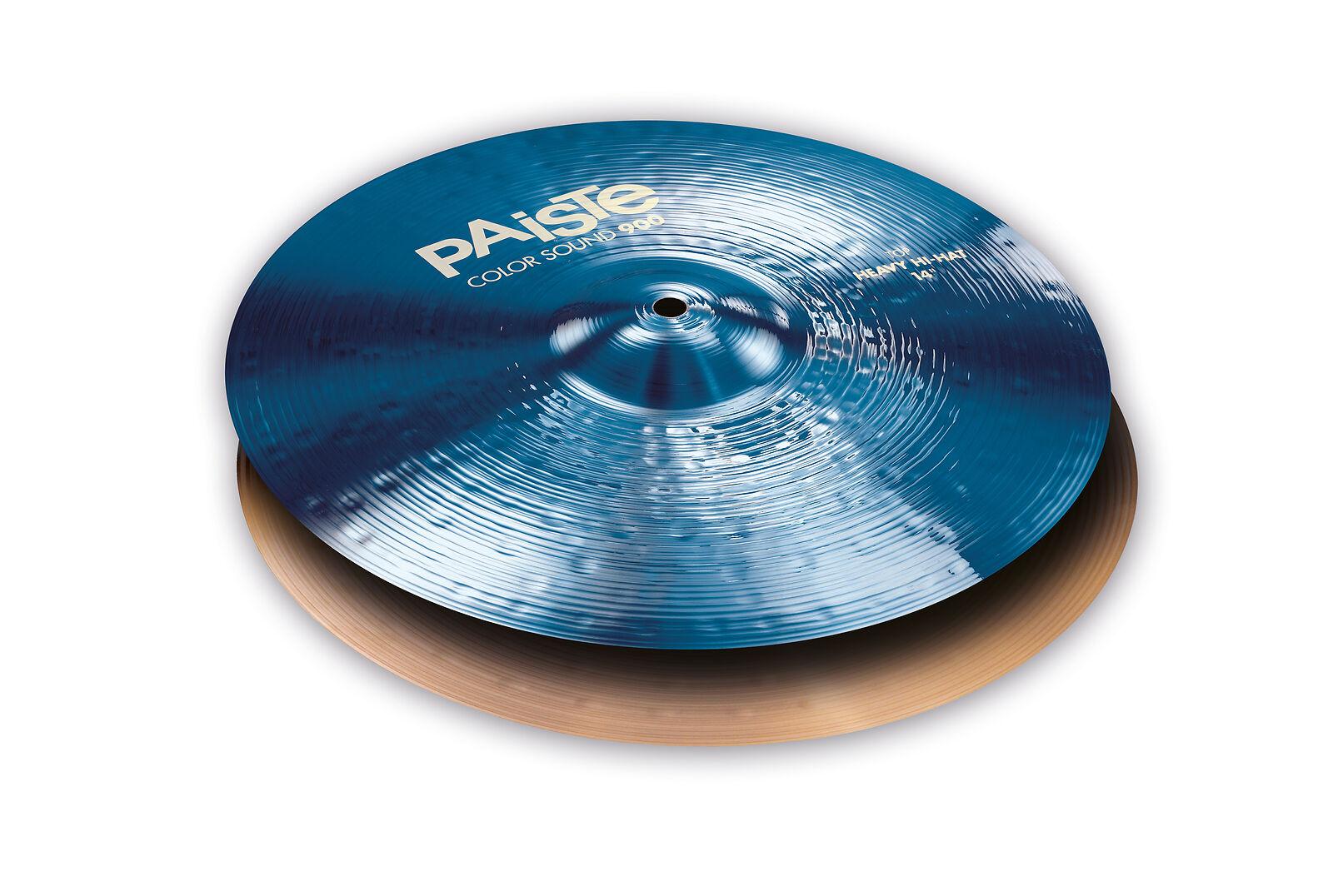 Paiste 14  CS 900-Series Med Med Heavy Blau Sound Edge Hi-Hat Cymbals 1933114