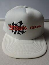 Vintage 1980s Speedway Food Mart Asheville NC Snapback Trucker Hat OSFA Uno Adv.