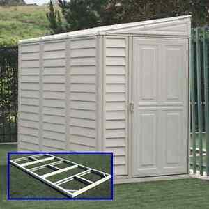 Garden Sheds Vinyl sidemate 4'x8' duramax vinyl storage shed w/ floor kit (model