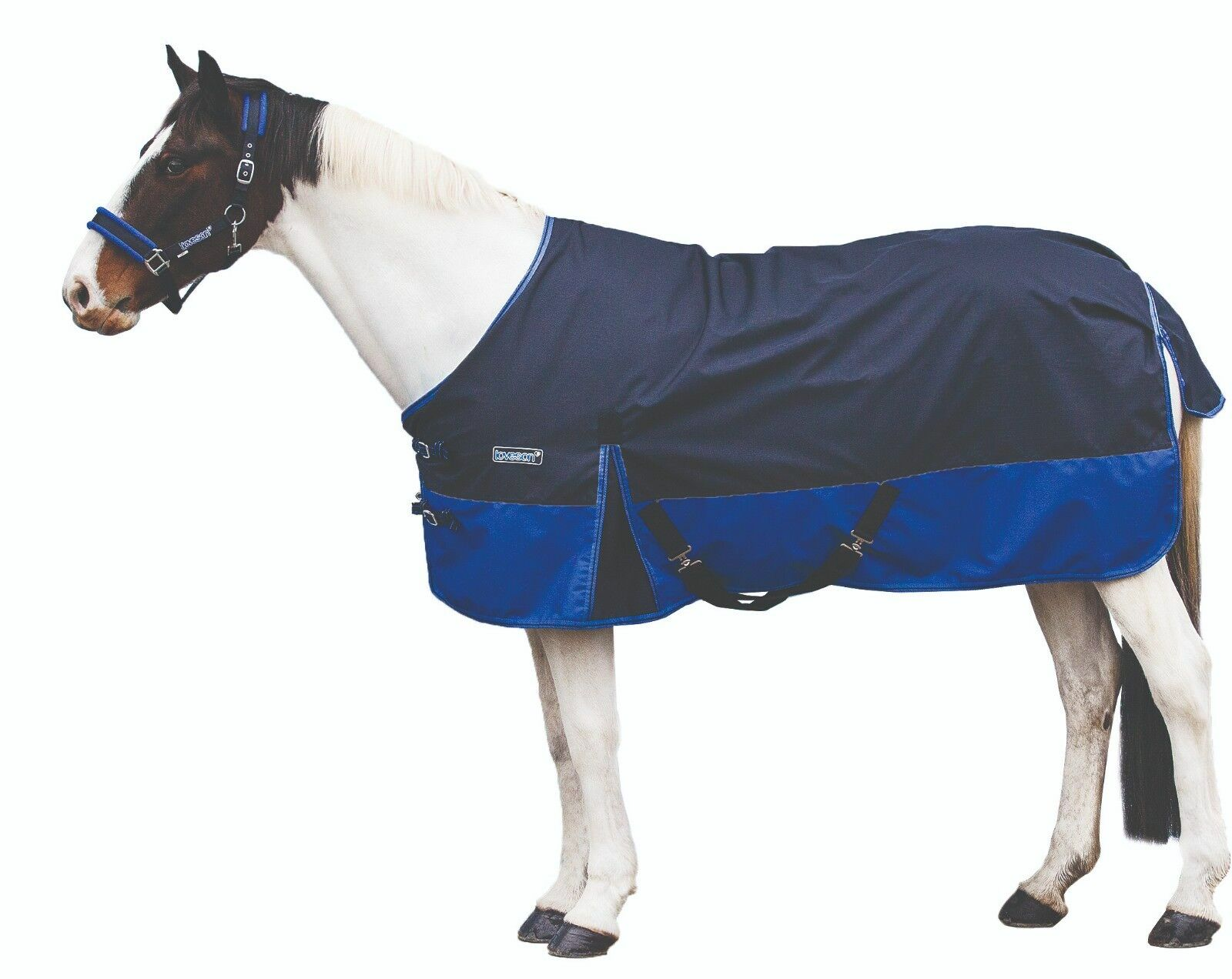 Loveson Net Lined Lightweight - Turnout Rug 0g Navy/Blau (5'0 - Lightweight 7'0) 52b42b