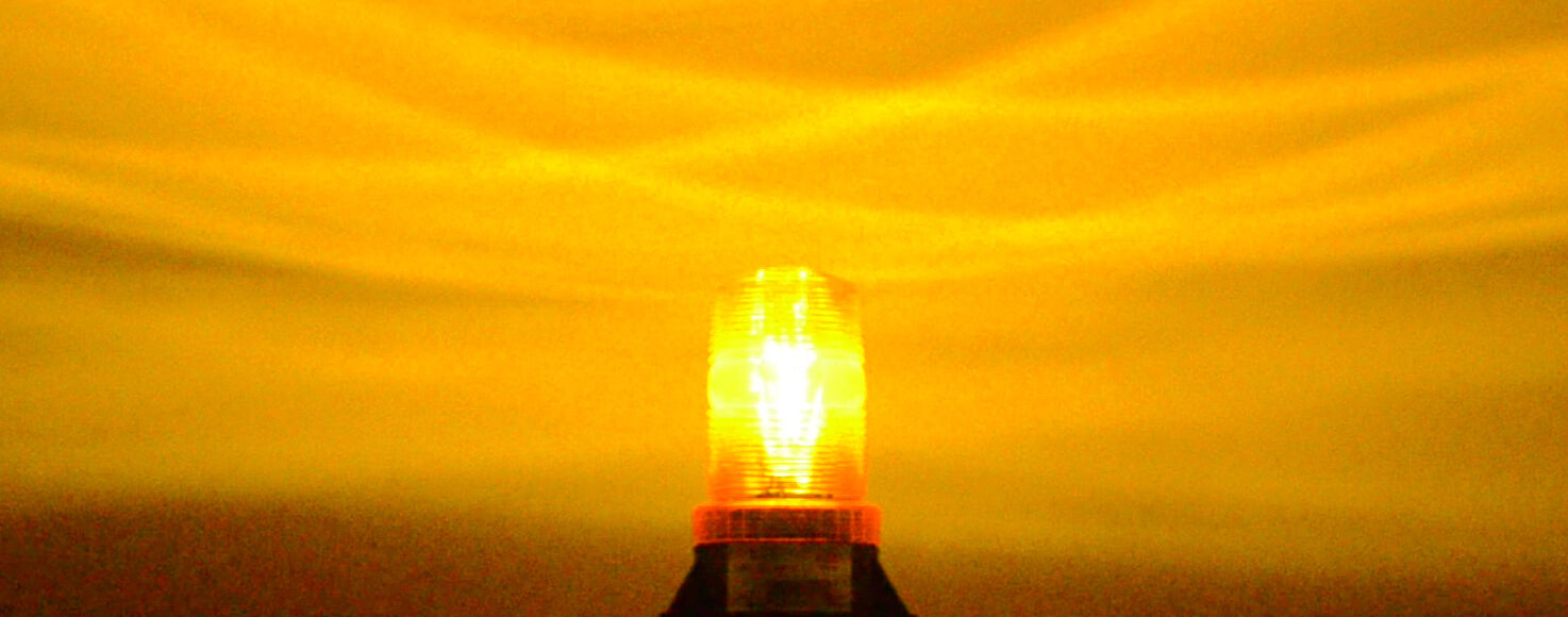 B6L4PAC AMBER 85-265V AC EMERGENCY WARNING LED LIGHT BEACON 110V 120V 220V 240V