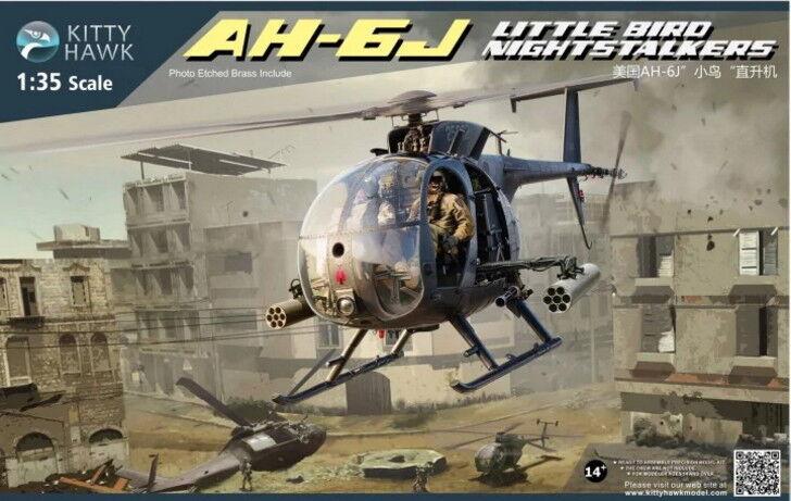 Kitty Hawk Models 1 35 US AH-6J Little Bird Nightstalkers Helicopter