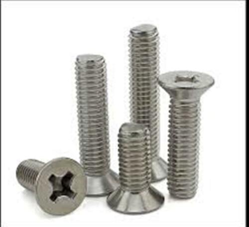 Stainless Steel Flat Head Phillips Machine Screws #10-24 x 1-1//2 Qty-50