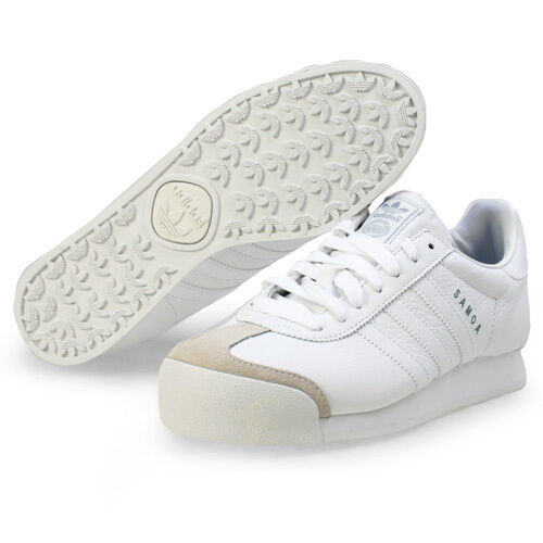 ADIDAS SAMOA LEATHER WHITE LOW SNEAKERS MEN SHOES WHITE LEATHER 133759 SIZE 10.5 NEW bf7210