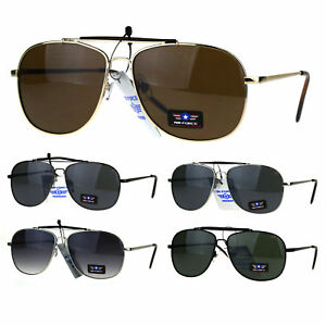 ceac088713043 Image is loading Mens-Air-Force-Rectangular-Police-Flat-Top-Pilots-