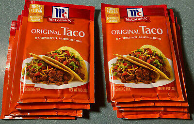 8 Pack Mccormick Original Taco Seasoning Mix 1 Oz Packets Always Fresh Ebay