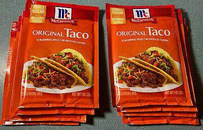 8 Pack Mccormick Original Taco Seasoning Mix 1 Oz Packets Always Fresh Ebay
