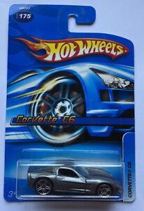 2005-HOTWHEELS-Chevy-Corvette-C6-V8-Grigio-Nuovo-di-zecca-molto-rara