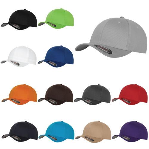 Flexfit Classic Plain Wooly pettinato Baseball PEAK CAP HAT Scegli Colori e Dimensioni
