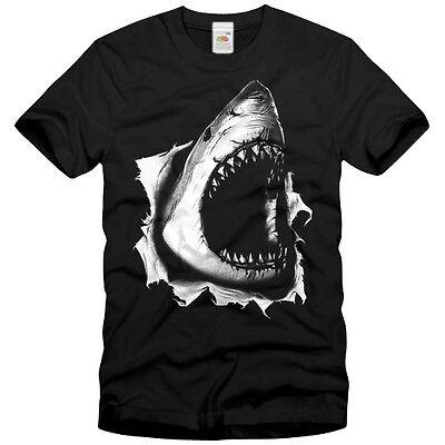 HAI T-Shirt SCHWARZ great white shark S M L XL XXL 3XL
