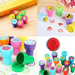 12PCS/SET Non-Toxic Children Animal DIY Plastic Rubber Self Inking Stampers